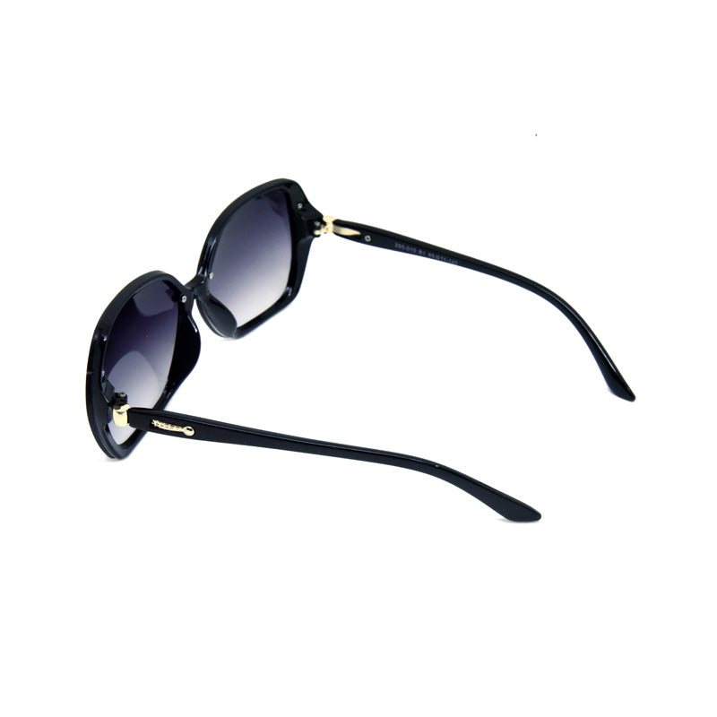Credito Z65-010 Black Oval Sunglasses