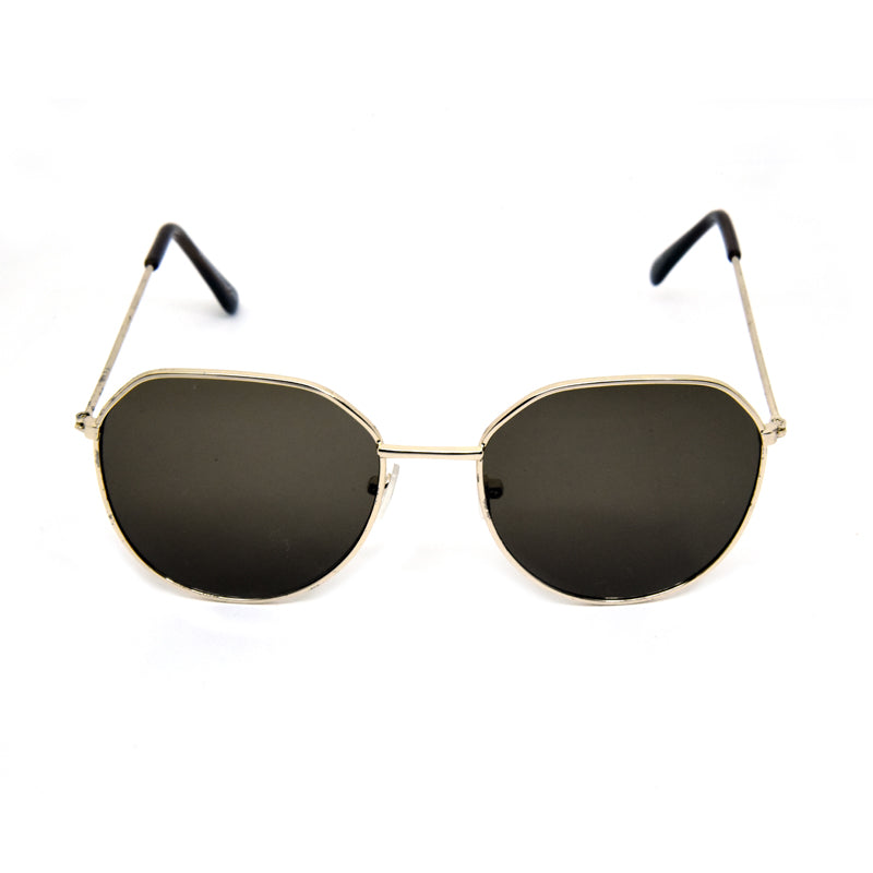Credito GY-202 Gold Square Sunglasses