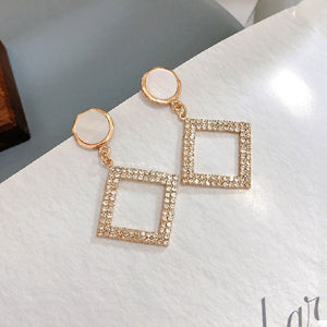 Travel & Style Fashion Square Shining  Earrings
