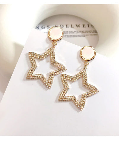 Travel & Style Fashion Shining Stars  Earrings