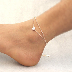 Anklets Fashion Heart for Women Beaded Dainty