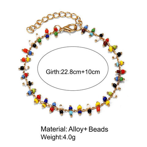 Image of Bohemian Acrylic  Anklets for Women lovers