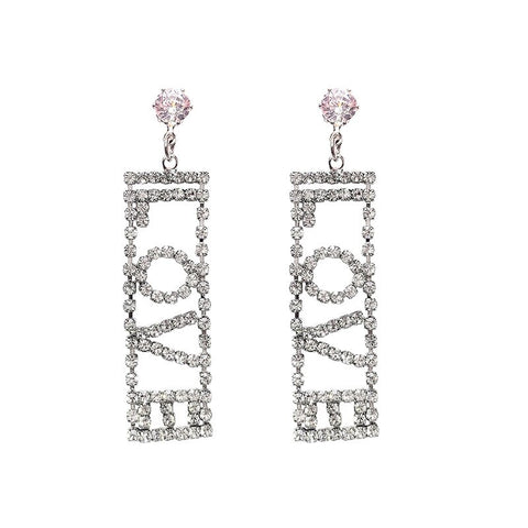 Image of Luxury LOVE Dangle Earrings