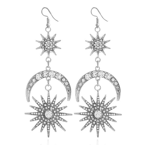"Lisbeth"" Vintage Sun, Moon, and Stars Dangle Earrings 2019"