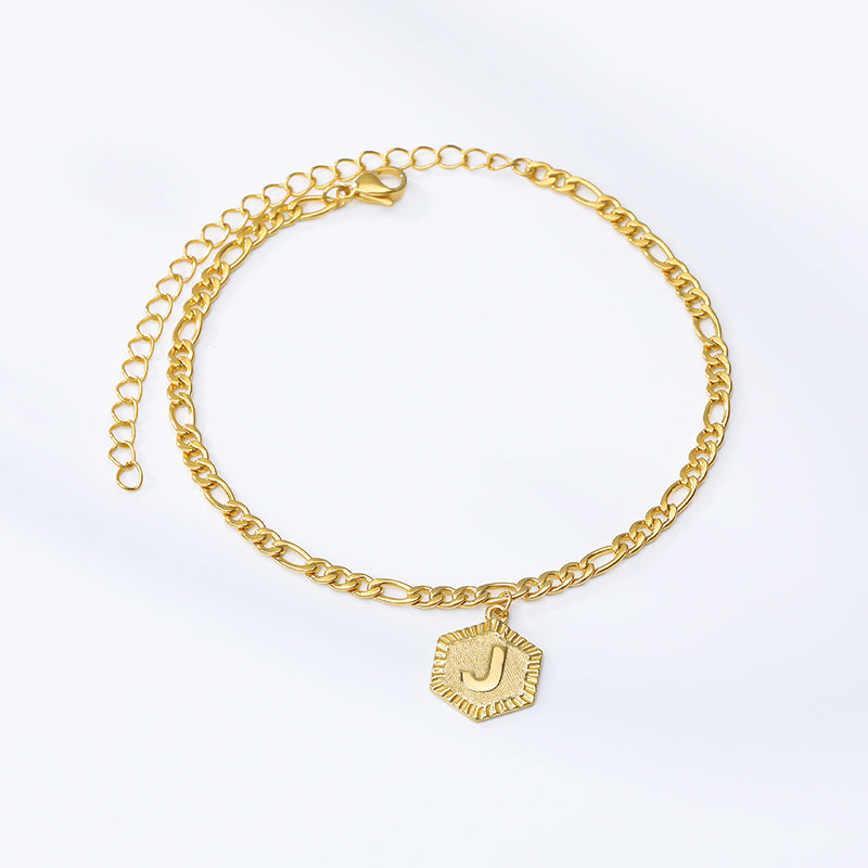Romantic Alphabet  Letter Anklets for Women , Girl Fashion