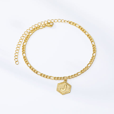 Image of Romantic Alphabet  Letter Anklets for Women , Girl Fashion