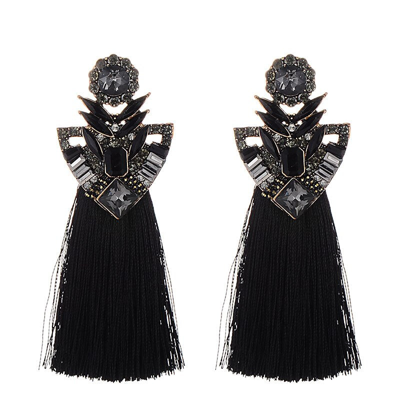 Vintage rhinestone crystal earrings For Women Fashion