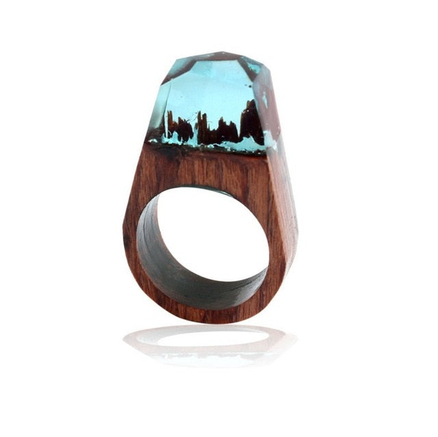 Boho Rings Magic Landscape For Unisex