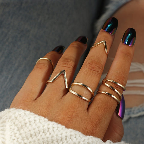 Shape Ring Set for Women Girl
