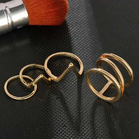 Image of Shape Ring Set for Women Girl