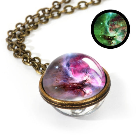 Image of New Nebula Galaxy Double Sided Necklace for fashion 2019