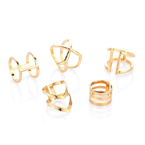 Image of Punk Gold  Rings  for Women