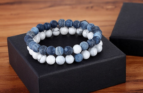 Image of Bracelets Natural Stone Yoga  for Men and Women