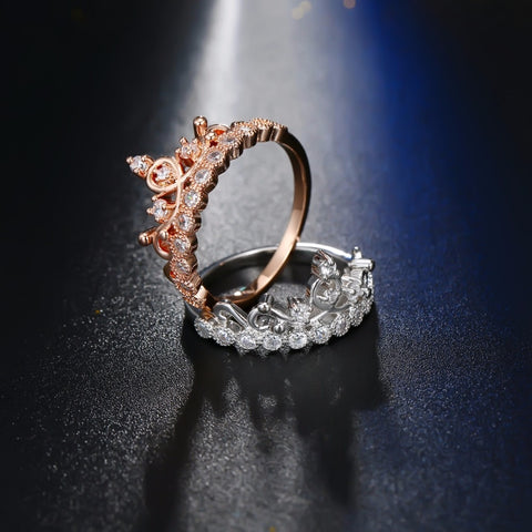 Image of Fashion Luxury Crown Rings for Women Wedding