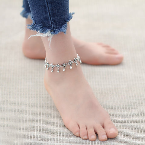 Image of Vintage Retro Droplets Charm Anklets