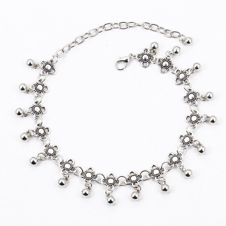 Vintage Retro Droplets Charm Anklets