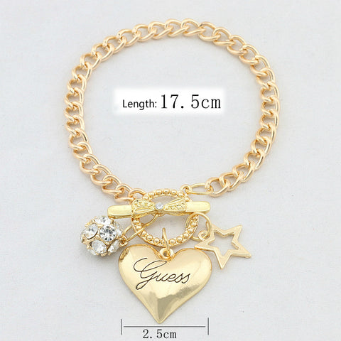 Big Love Heart Charms Bracelets For Women