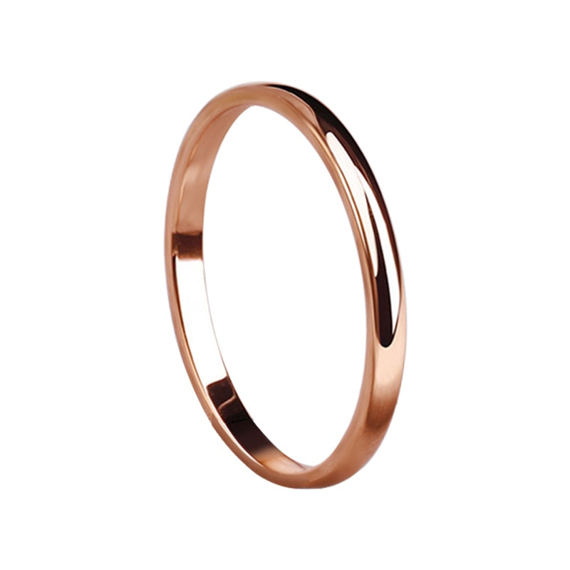 Rings Rose Gold Anti-allergy Wedding for women