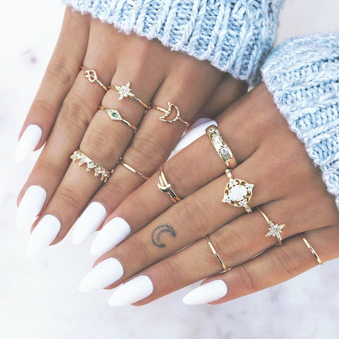Image of Bohemian Star Rings for women  Fashion
