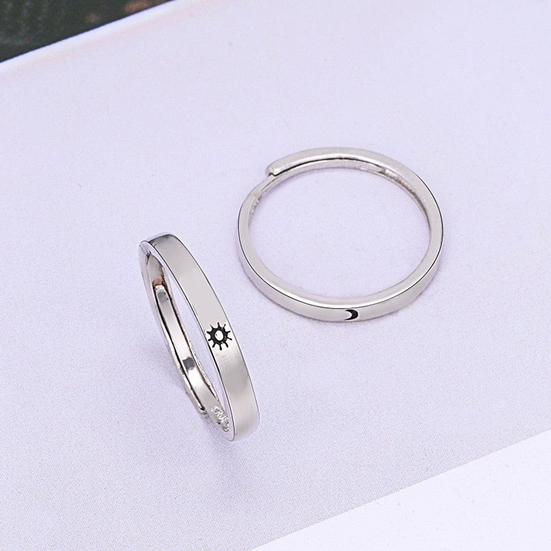 Women and  Men Lovers Unique  Wedding Rings