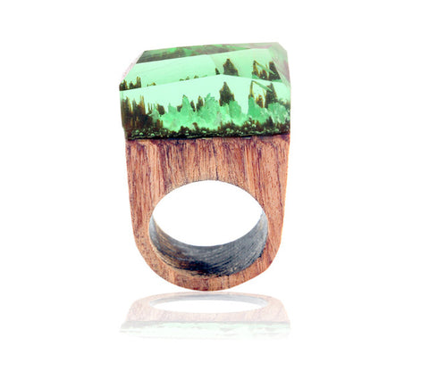 Image of Boho Rings Magic Landscape For Unisex