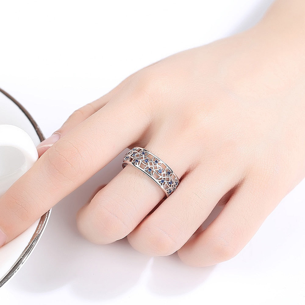 Popular Rhinestone Two-tone Wedding  Rings for Women