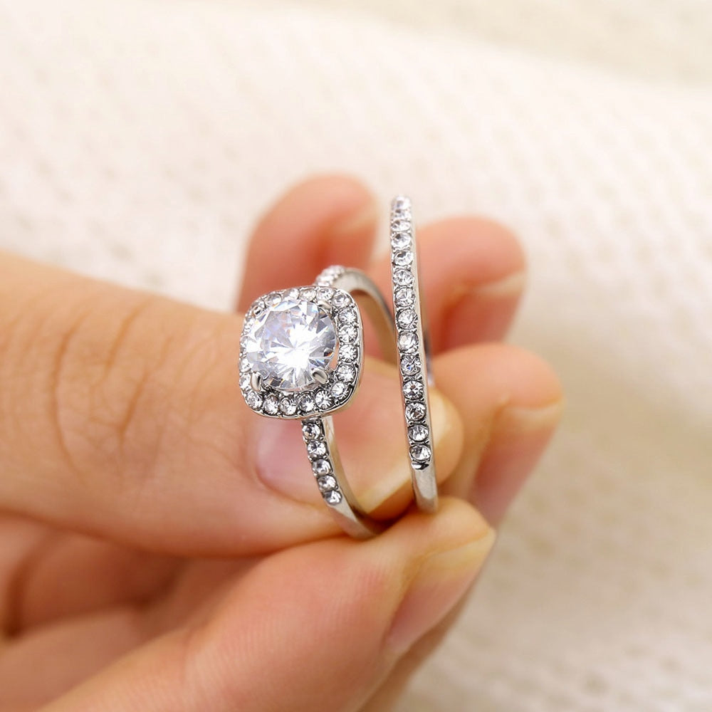 Luxury Crystal Rings  For Women Fashion
