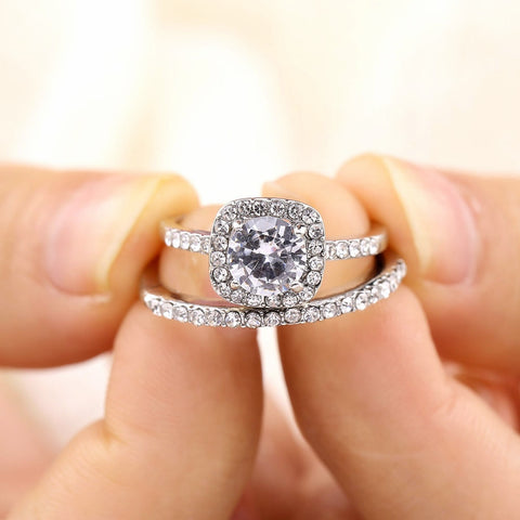 Image of Luxury Crystal Rings  For Women Fashion