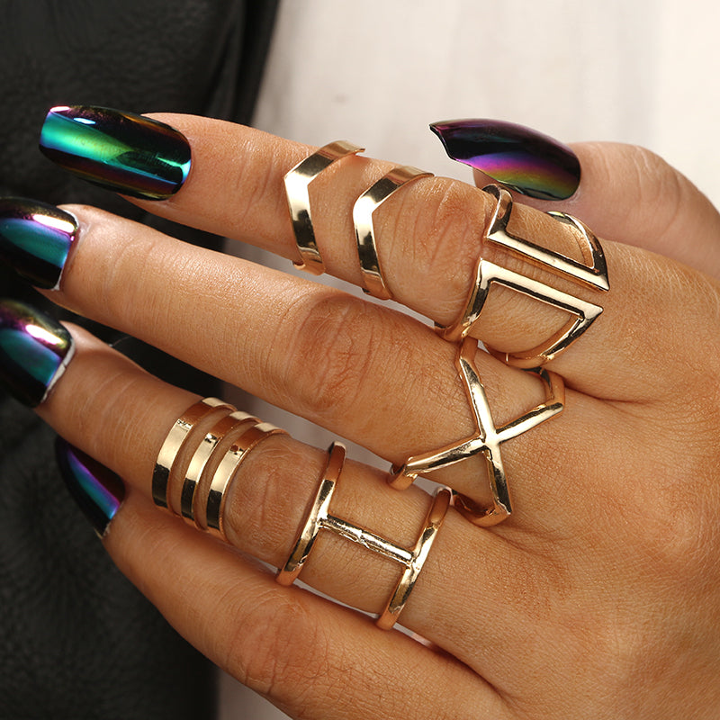 Punk Gold  Rings  for Women