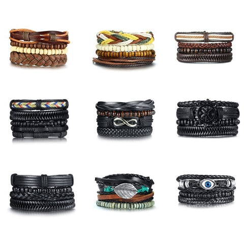 Image of Leather Bracelets for Men and Women Fashion