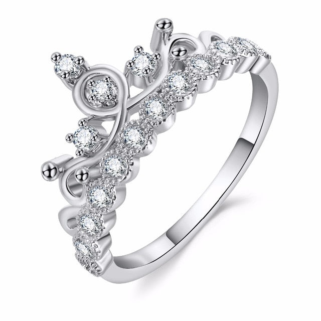 Fashion Luxury Crown Rings for Women Wedding