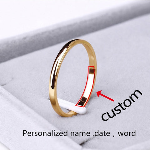 Image of Rings Rose Gold Anti-allergy Wedding for women