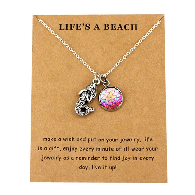Life's a beach Fish Shark Unisex necklace