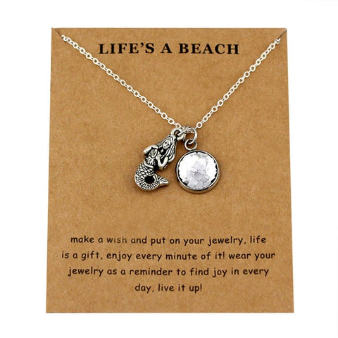 Image of Life's a beach Fish Shark Unisex necklace