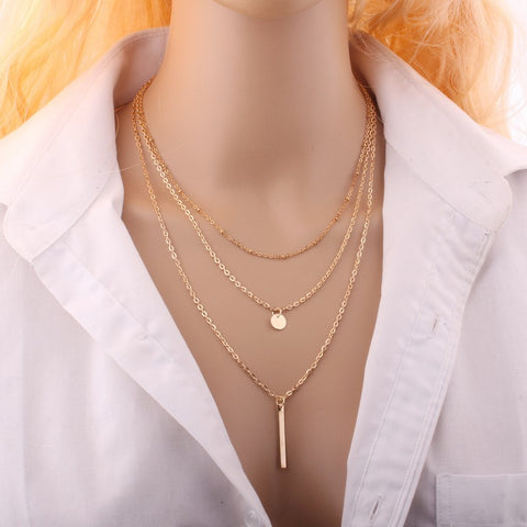 Image of New Fashion  Necklace Hollow Out Triangle