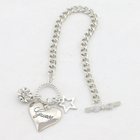 Image of Big Love Heart Charms Bracelets For Women