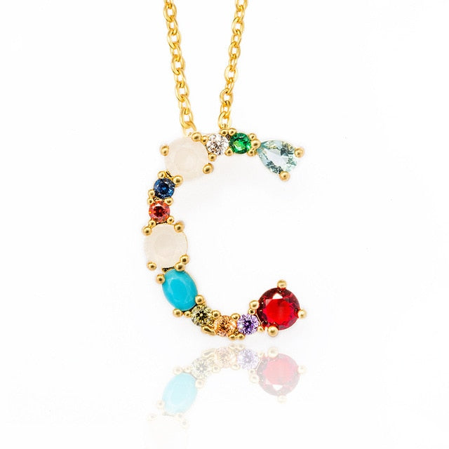 Couple Name Multicolor fashion charm necklace