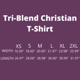 Christian Tee - Uniquely Soft Extra Light Triblend designed as She Opens Her Mouth With Wisdom .