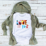Christian Tee - Uniquely Soft Extra Light Triblend designed as Love First