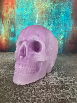 'Mermaid' Skull candle