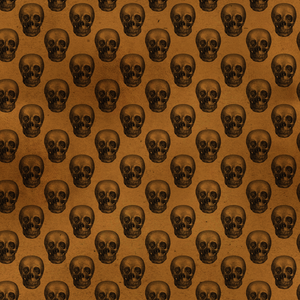 Halloween Costume - Black skulls on rust - Female Leggings