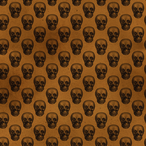 Halloween Costume - Black skulls on rust - Men's Leggings
