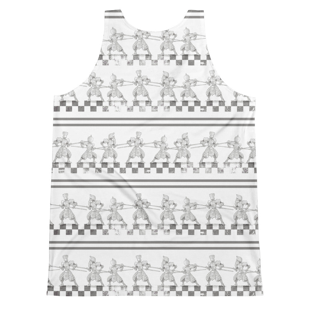 Burtonesque Wonderland Chess pieces - unisex tank