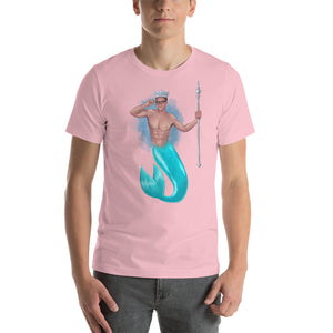 The King of Crowns (Light colours with blue splash back) Short-Sleeve Unisex T-Shirt