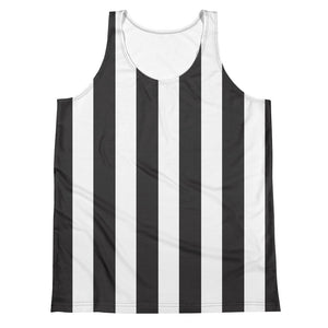 Burtonesque Circus - Black & White Stripes - unisex tank