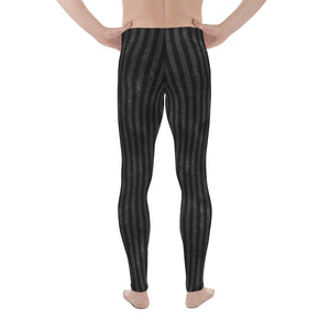 Burtonesque Circus - Black on Black striped - Men's Leggings