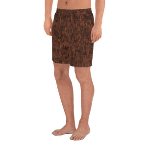 Circle of Life - Brown Fur Print - Men's Athletic Long Shorts
