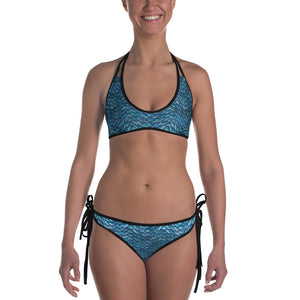 Thrones - 2 in 1 reversible bikini - Ice dragon and chainmail