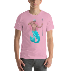 The King of Crowns (Light colours with pink splash back) Short-Sleeve Unisex T-Shirt