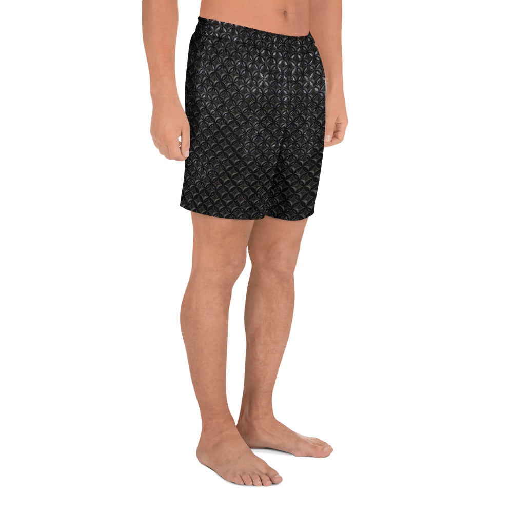 Thrones - Raven - Chainmail print - Men's Athletic Long Shorts